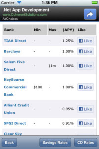 iphone bromoney interest rate app